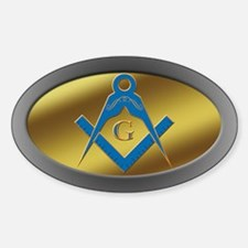 Masonic S&C Oval Decal