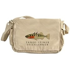 Three-spined stickleback Messenger Bag