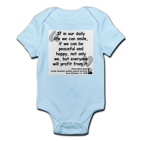 Hanh Smile Quote Infant Bodysuit