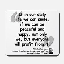 Hanh Smile Quote Mousepad