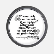 Hanh Smile Quote Wall Clock