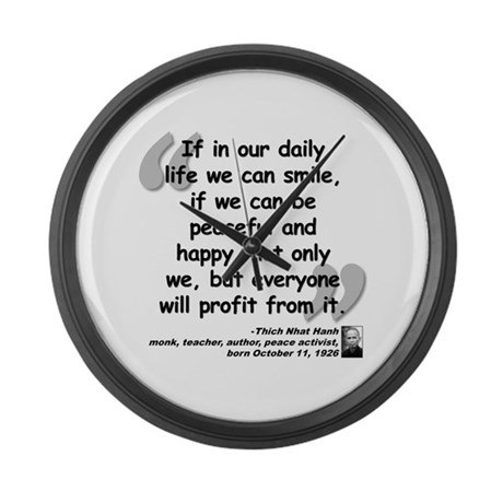 Hanh Smile Quote Large Wall Clock