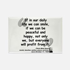 Hanh Smile Quote Rectangle Magnet