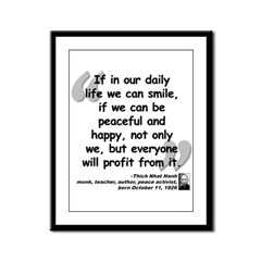 Hanh Smile Quote Framed Panel Print