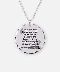 Hanh Smile Quote Necklace