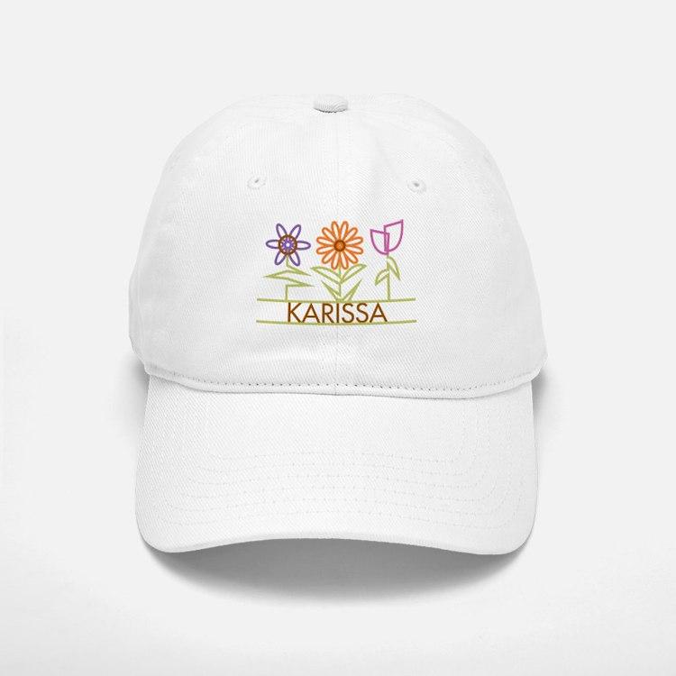 Karissa with cute flowers Baseball Baseball Cap