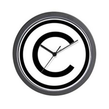 Copyrighted Wall Clock
