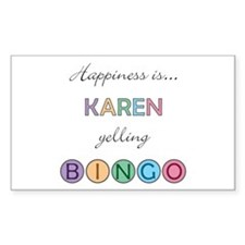 Karen BINGO Rectangle Decal