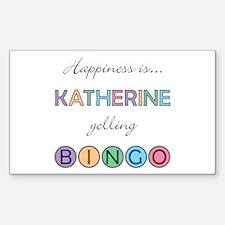 Katherine BINGO Rectangle Decal