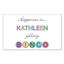 Kathleen BINGO Rectangle Decal