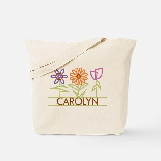 Carolyn with cute flowers Tote Bag