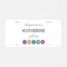 Katherine BINGO Aluminum License Plate