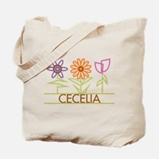 Cecelia with cute flowers Tote Bag