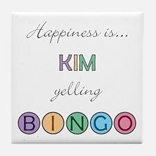 Kim BINGO Tile Coaster