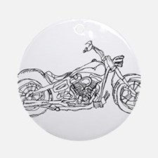 Motor Cycle Ornament (Round)