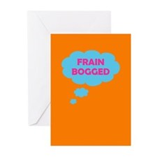 Frain Bogged (brain fogged) Greeting Cards (Pk of