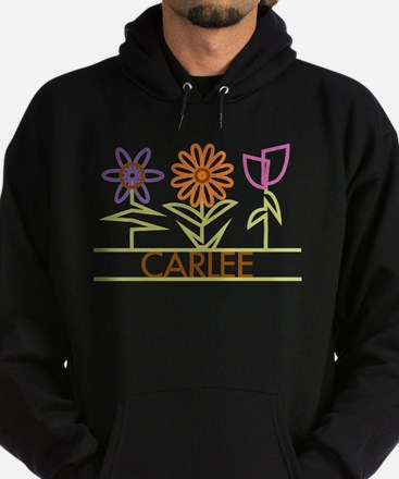 Carlee with cute flowers Hoodie (dark)
