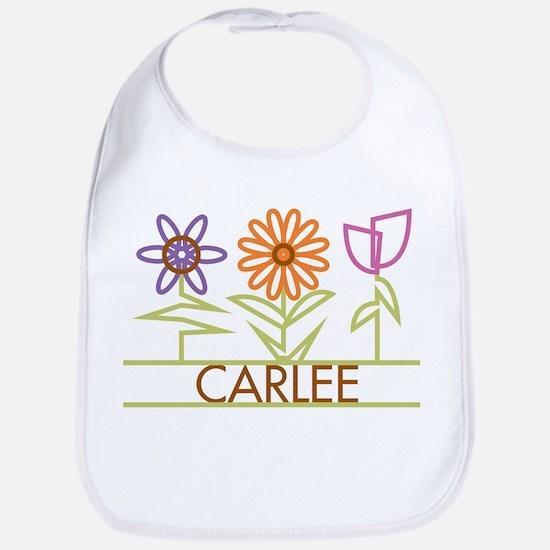 Carlee with cute flowers Bib