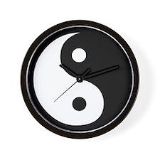 Ying Yang Black & White Wall Clock