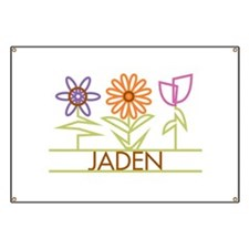 Jaden with cute flowers Banner