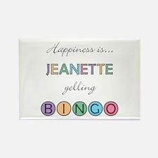 Jeanette BINGO Rectangle Magnet