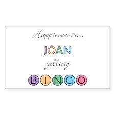 Joan BINGO Rectangle Decal