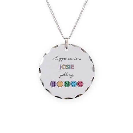 Josie BINGO Necklace Circle Charm