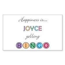 Joyce BINGO Rectangle Decal