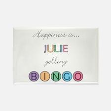 Julie BINGO Rectangle Magnet