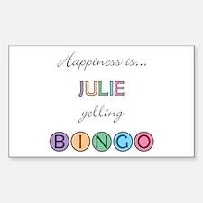 Julie BINGO Rectangle Decal