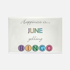 June BINGO Rectangle Magnet
