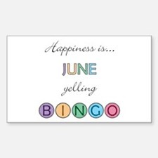 June BINGO Rectangle Decal