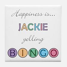 Jackie BINGO Tile Coaster