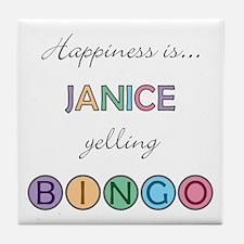 Janice BINGO Tile Coaster