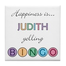 Judith BINGO Tile Coaster