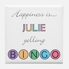 Julie BINGO Tile Coaster