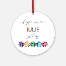 Julie BINGO Round Ornament
