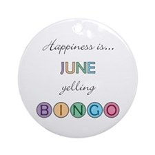 June BINGO Round Ornament