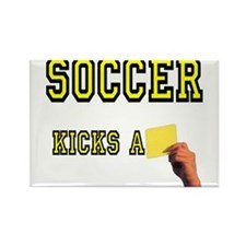 Yellow Card Rectangle Magnet