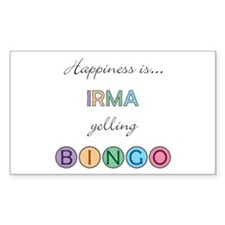 Irma BINGO Rectangle Decal