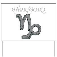 Zodiac Sign, Capricorn Yard Sign