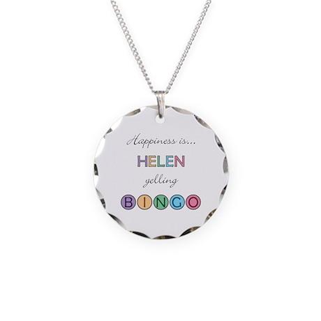Helen BINGO Necklace Circle Charm