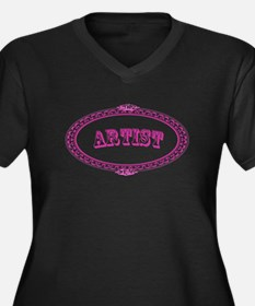 Artist Women's Plus Size V-Neck Dark T-Shirt
