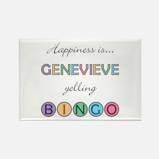 Genevieve BINGO Rectangle Magnet