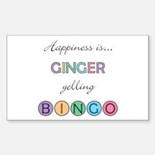 Ginger BINGO Rectangle Decal