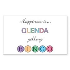 Glenda BINGO Rectangle Decal
