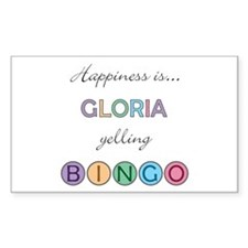 Gloria BINGO Rectangle Decal