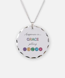 Grace BINGO Necklace Circle Charm