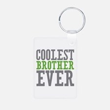 Coolest Brother Aluminum Photo Keychain