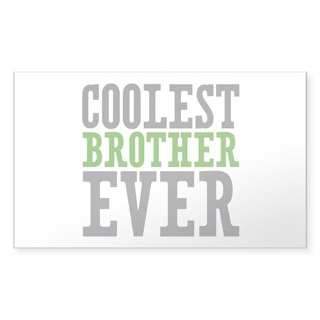 Coolest Brother Sticker (Rectangle 10 pk)